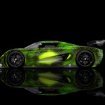 4K Koenigsegg Regera Side Kiwi Aerography Car 2015
