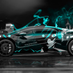4K Lamborghini Huracan Mansory Tuning Anime Aerography City Car 2015