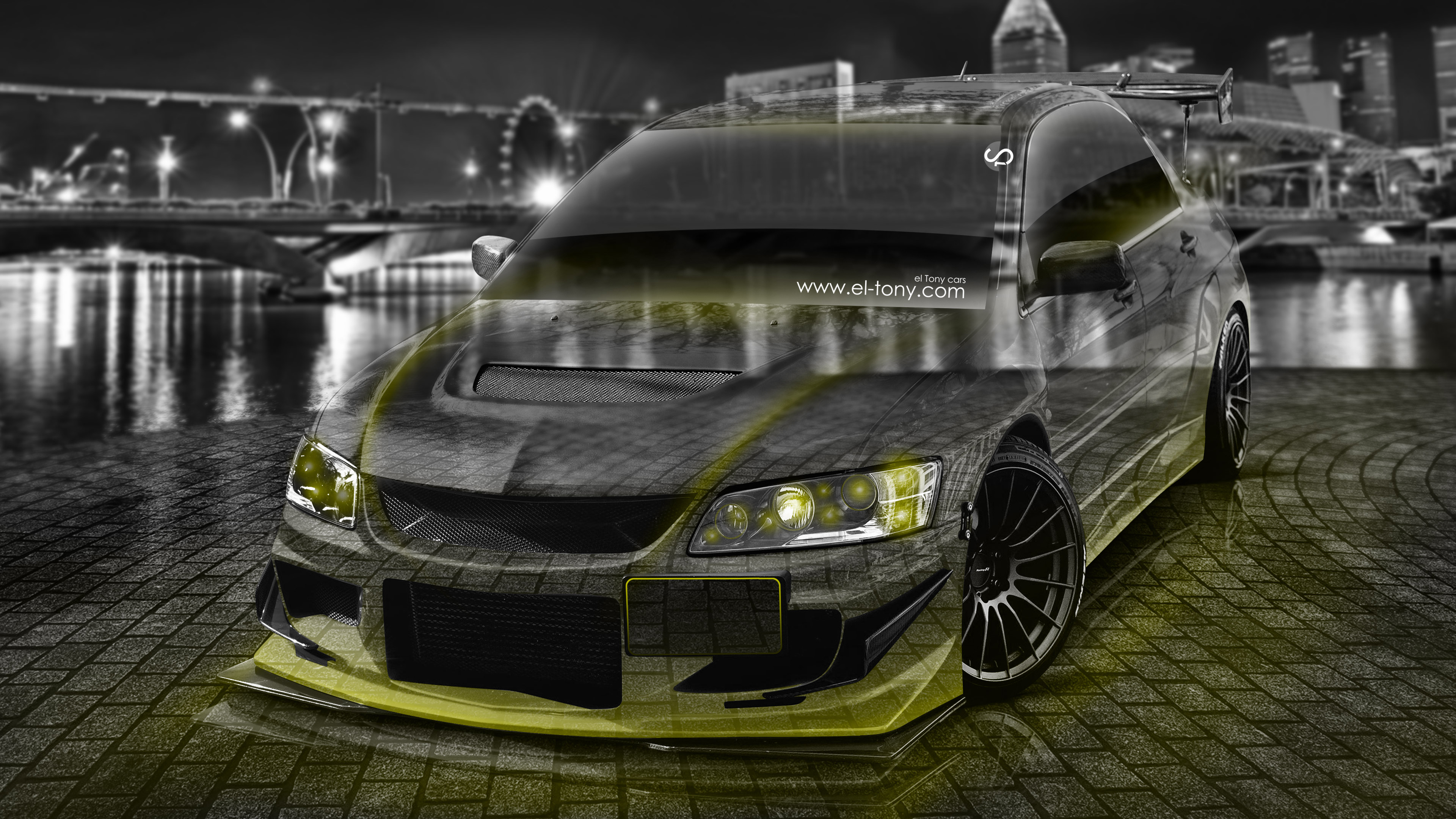 4K Mitsubishi Lancer Evolution JDM Tuning Crystal City Car .