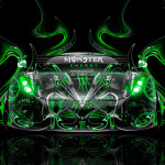 Monster Energy Koenigsegg Regera Front Super Plastic Car 2015