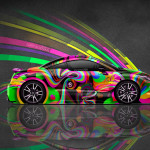 4K Peugeot RCZ Side Super Abstract Aerography Car 2015