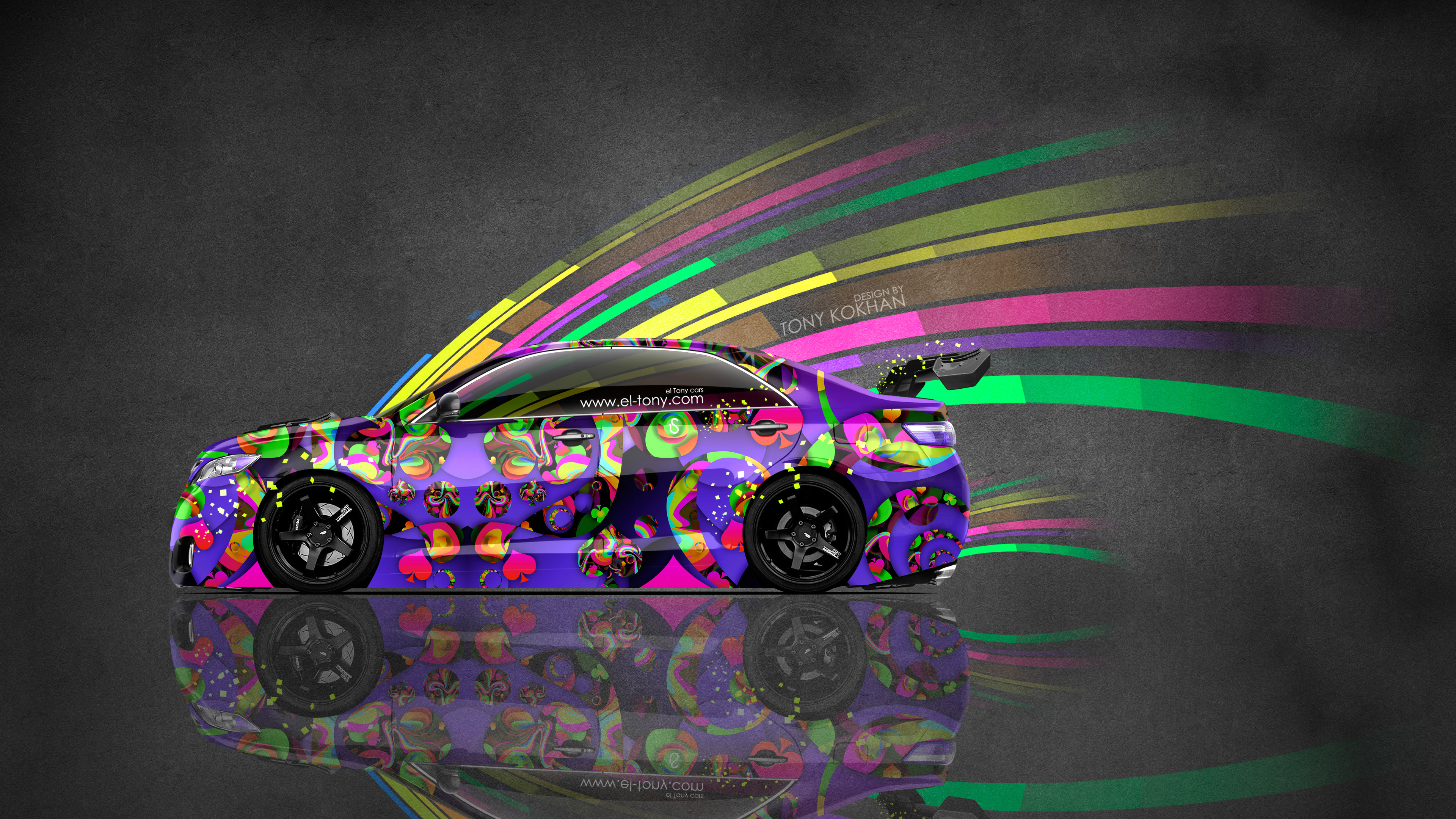 4k toyota camry jdm tuning side super abstract aerography