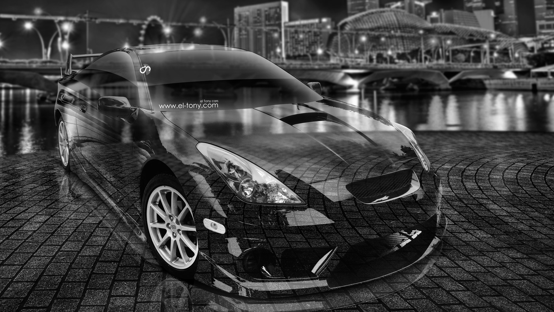 Toyota Celica JDM Tuning 3D Crystal City Car