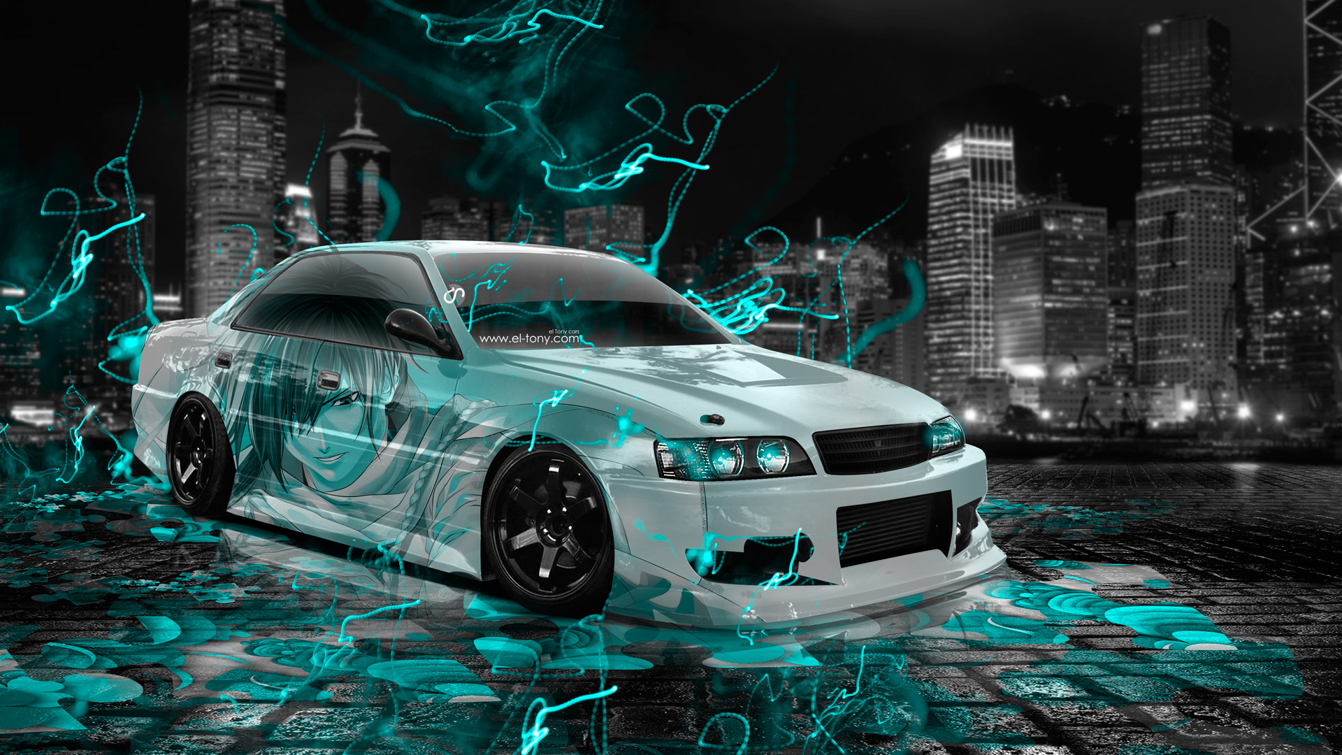 Good Toyota Chaser JZX100 JDM Tuning Anime Boy Aerography .