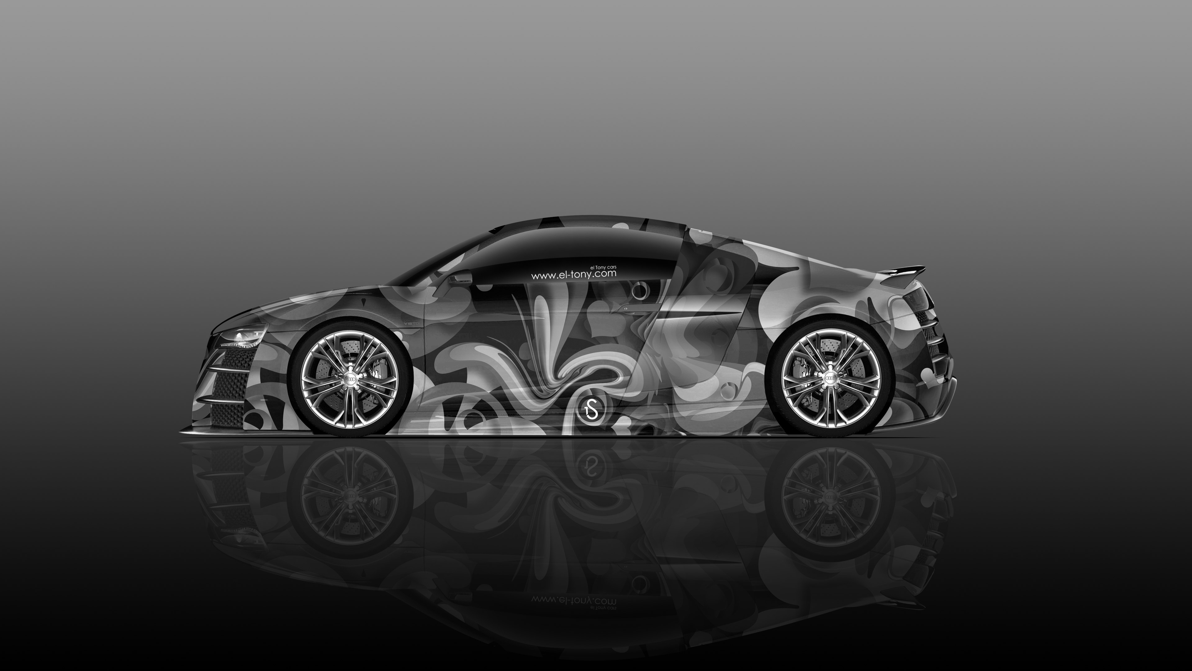 Audi R8 Side Super Abstract Aerography Car 2015