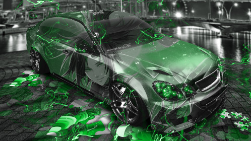 Toyota-Aristo-JDM-Tuning-3D-Anime-Aerography-City-Energy-Car-2015-Green-Neon-Effects-4K-Wallpapers-design-by-Tony-Kokhan-www.el-tony.com-image