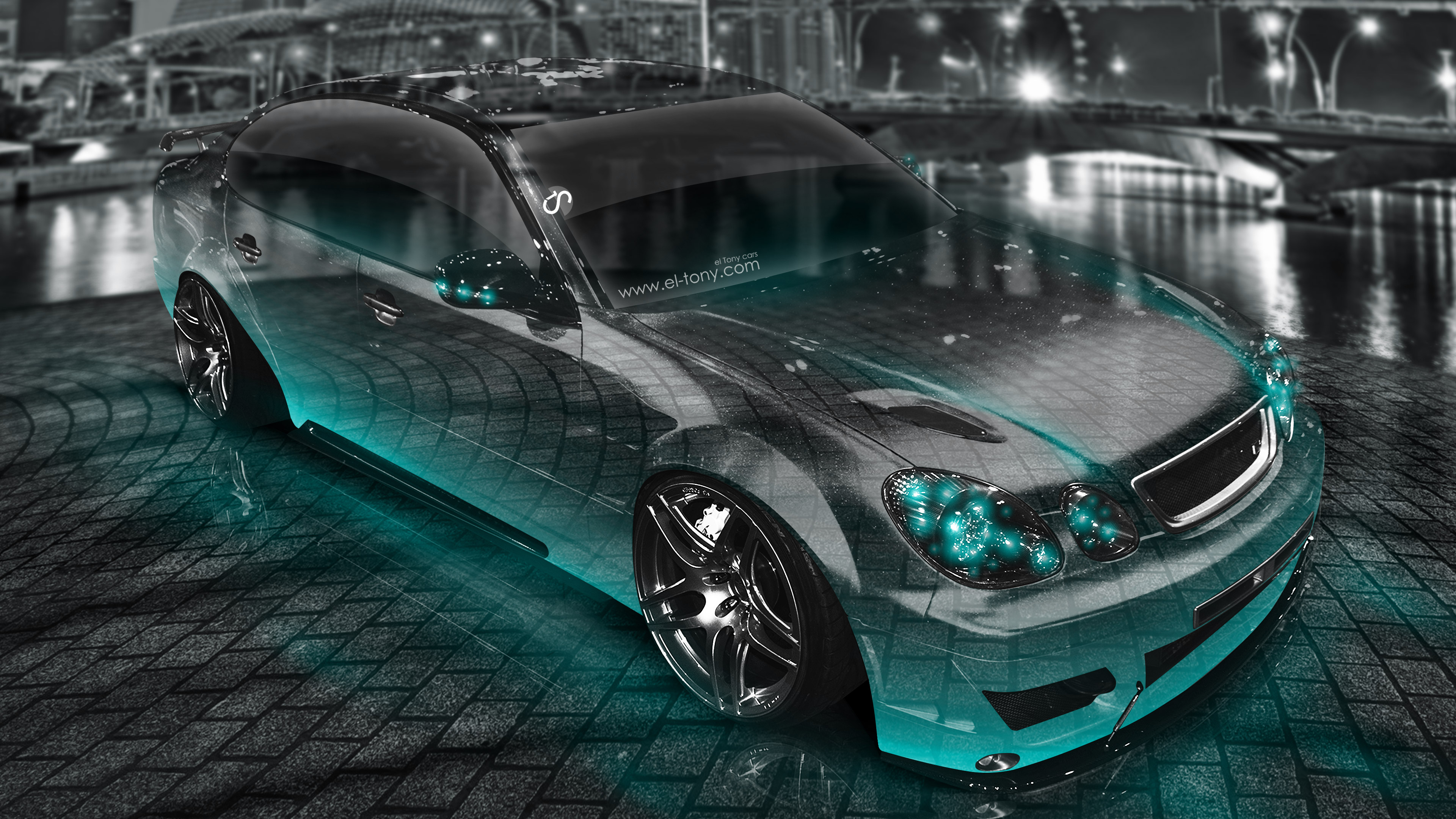 Toyota Chaser JZX100 JDM Tuning Crystal City Night Car 2016 .