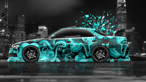 Toyota-Mark2-JZX90-JDM-Tuning-Side-Abstract-Aerography-Domo-Kun-City-Car-2015-Azure-Colors-4K-Wallpapers-design-by-Tony-Kokhan-www.el-tony.com-image