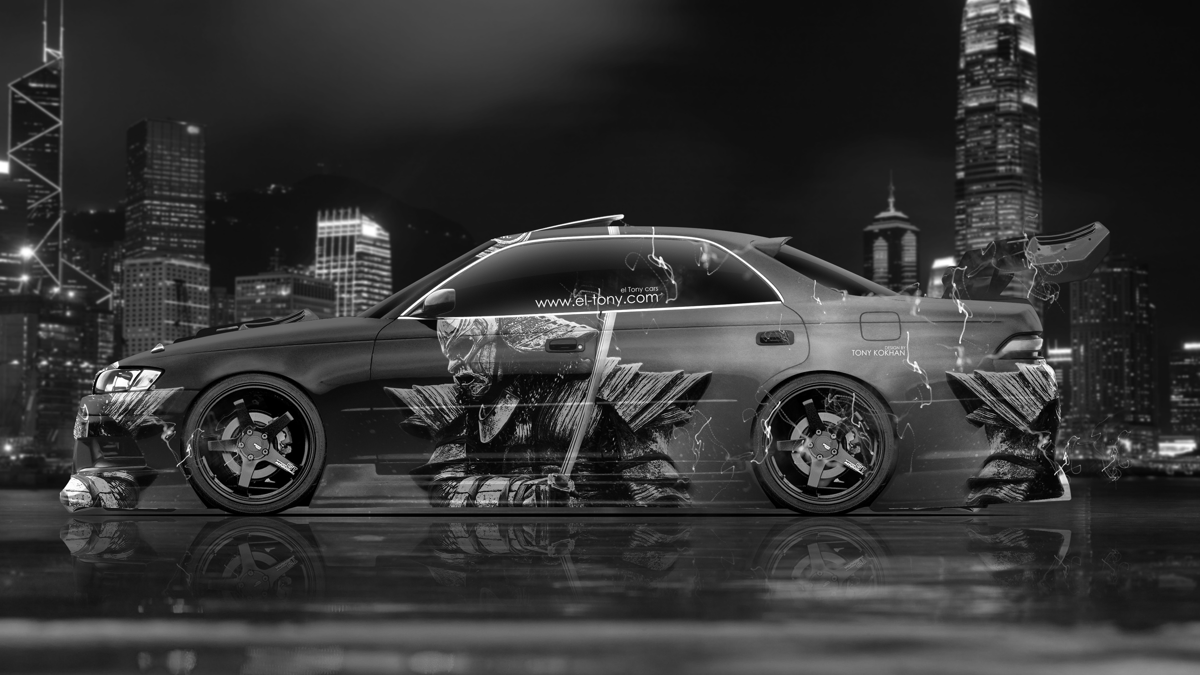 Toyota Mark2 JZX90 JDM Tuning Side Samurai Aerography