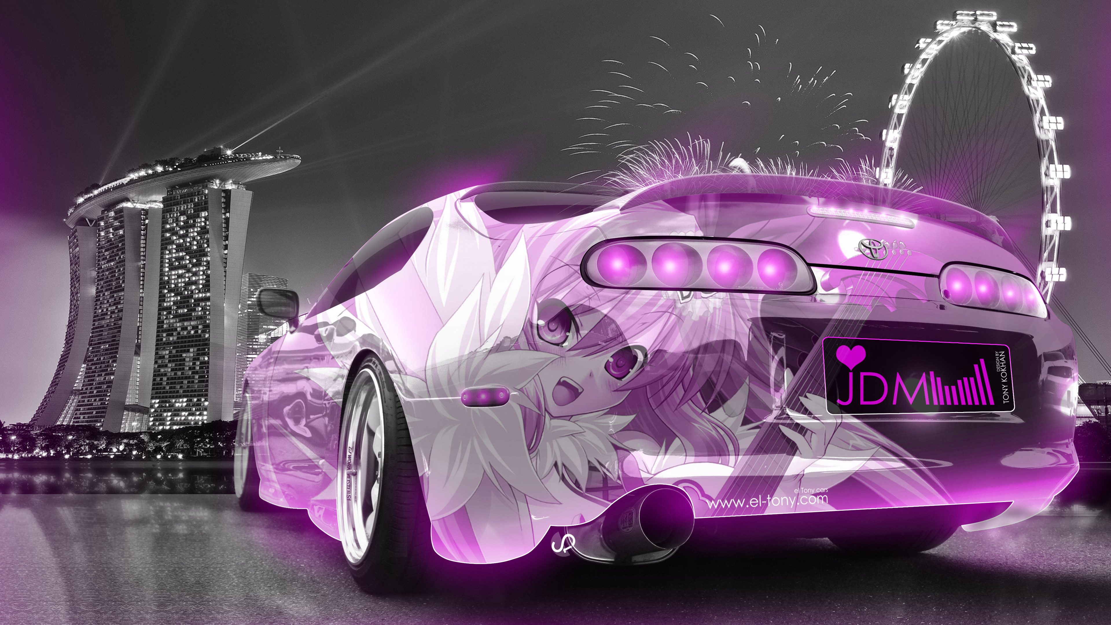 2015 Toyota Supra >> Toyota Supra JDM Tuning Anime Girl Aerography City Car 2015 | el Tony