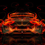 BMW CSL Hommage Back Fire Abstract Car 2015