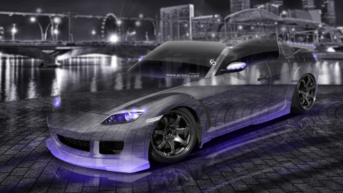 Mazda-RX8-JDM-Tuning-3D-Crystal-City-Car-2015-Violet-Neon-Colors-4K-Wallpapers-design-by-Tony-Kokhan-www.el-tony.com-image