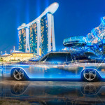 Lincoln Continental Crystal City Night Neon Car 2015