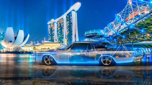 Lincoln-Continental-Crystal-City-Night-Neon-Car-2015-Retro-3D-Multicolors-4K-Wallpapers-design-by-Tony-Kokhan-www.el-tony.com-image