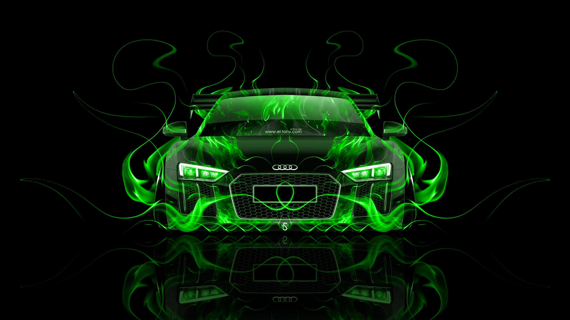 Superieur Audi R8 Front Super Fire Abstract Car 2015  ...