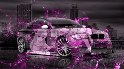 BMW-M1-Tuning-3D-Anime-Girl-Aerography-City-Night-Energy-Car-2015-Fantasy-Pink-Colors-4K-Wallpapers-design-by-Tony-Kokhan-www.el-tony.com-image