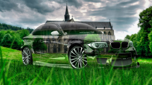 BMW-M1-Tuning-3D-Crystal-Nature-Car-2015-Green-Grass-Style-4K-Wallpapers-design-by-Tony-Kokhan-www.el-tony.com-image
