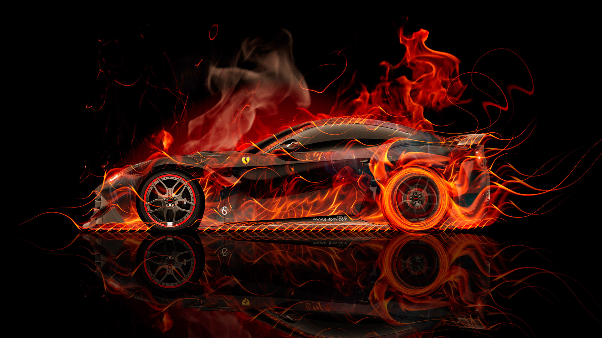 Ferrari-F12-Berlinetta-Side-Super-Fire-Abstract-Car-2015-Red-Yellow-Orange-Black-Colors-HD-Wallpapers-design-by-Tony-Kokhan-www.el-tony.com-image