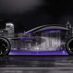Mazda RX Vision Concept Side Crystal City Night Car 2015