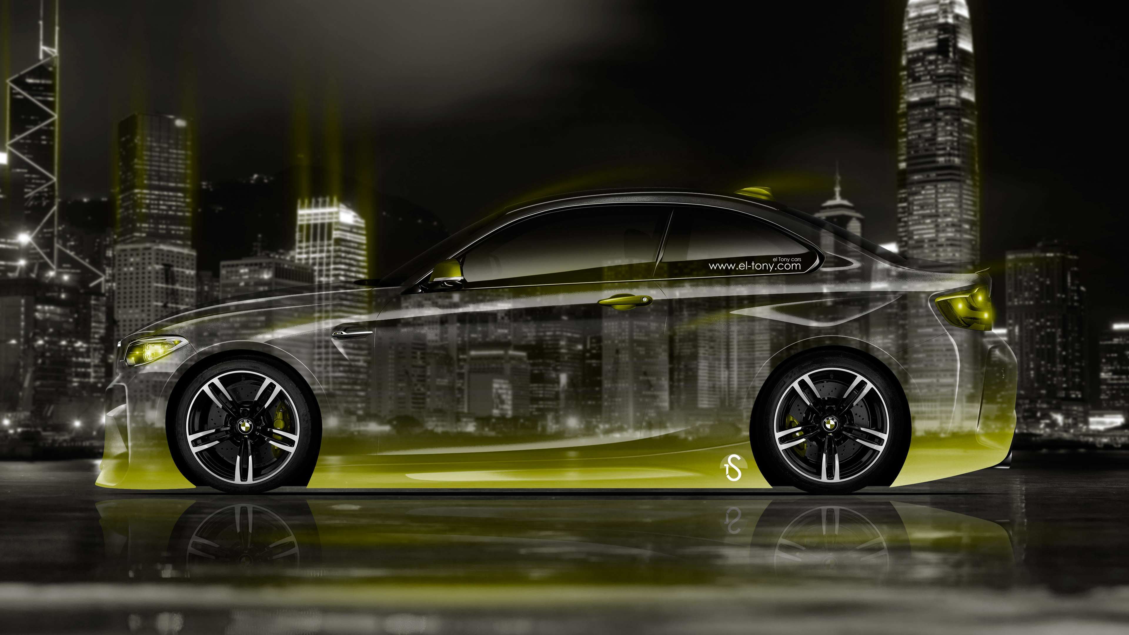 BMW M2 Coupe Side Crystal City Night Car 2016 Wallpapers ...