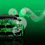 BMW M4 Tuning Front Anime Boy Aerography Car 2016 Wallpapers 4K