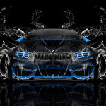 BMW M4 Tuning Front Super Water Car 2016