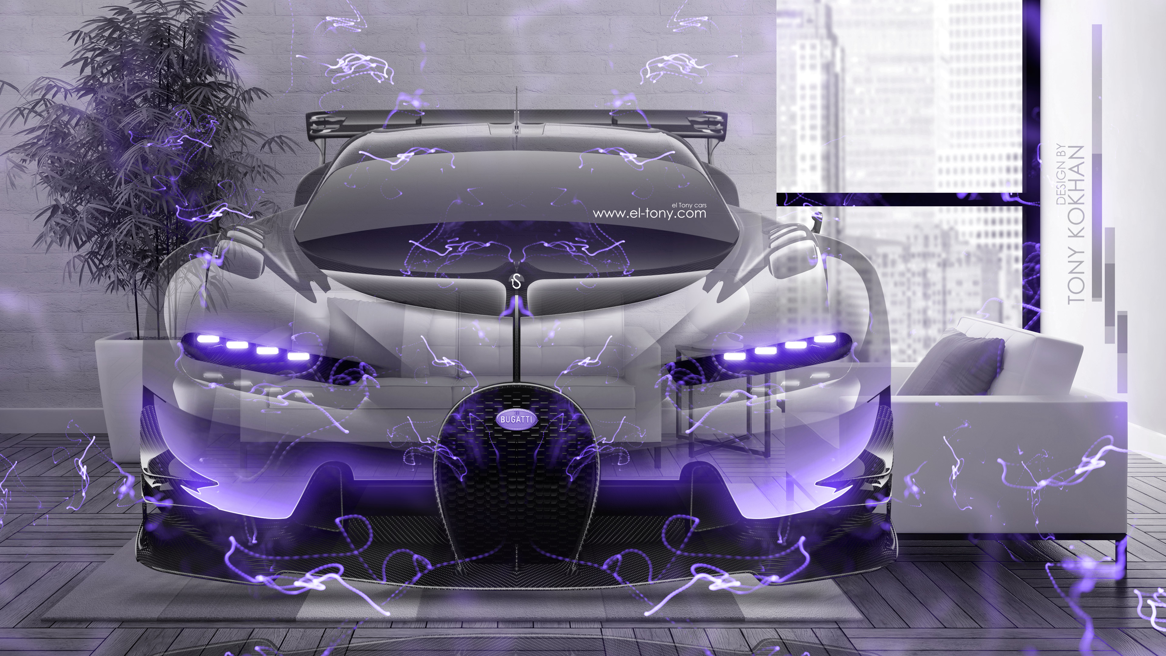 Bugatti Vision Gran Turismo Super Energy Fly Home Crystal Car 2016
