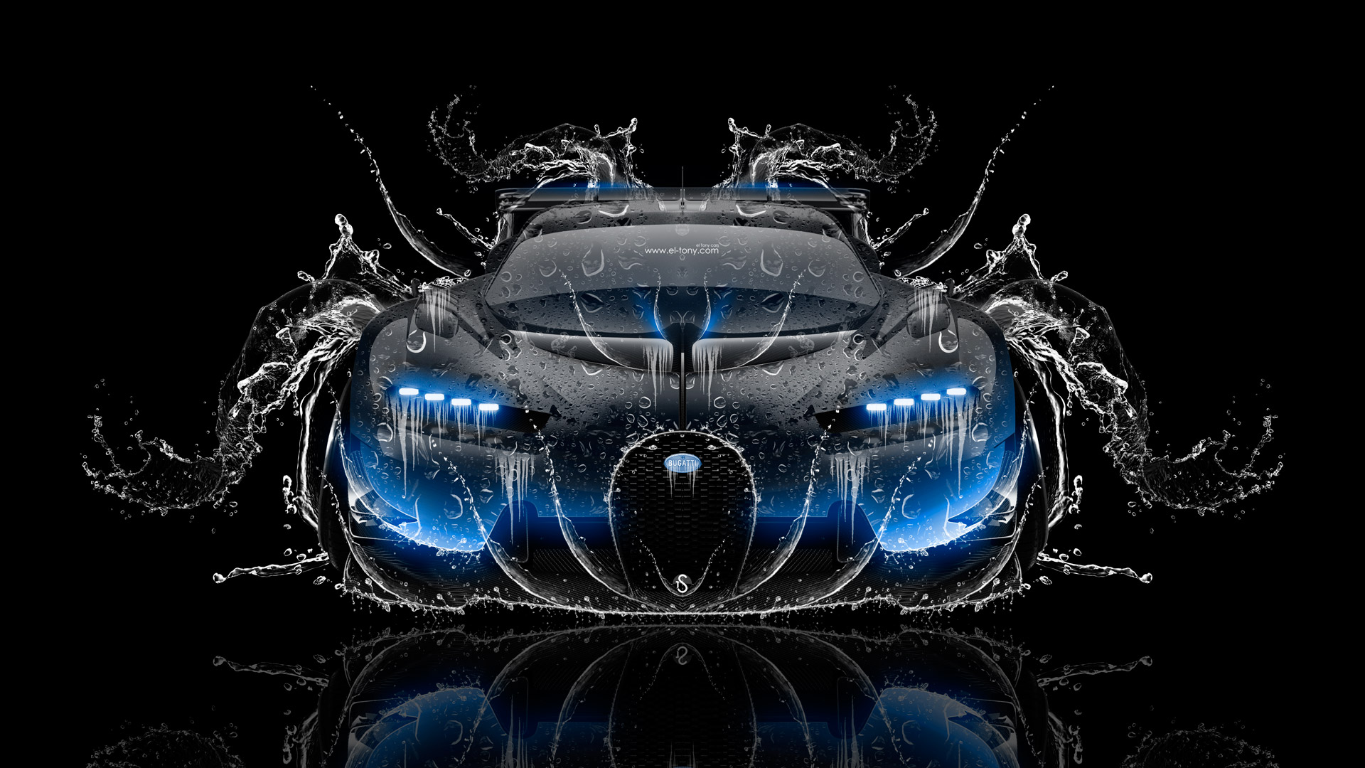 Incroyable ... Bugatti Vision Gran Turismo FrontUp Super Water Car 2016
