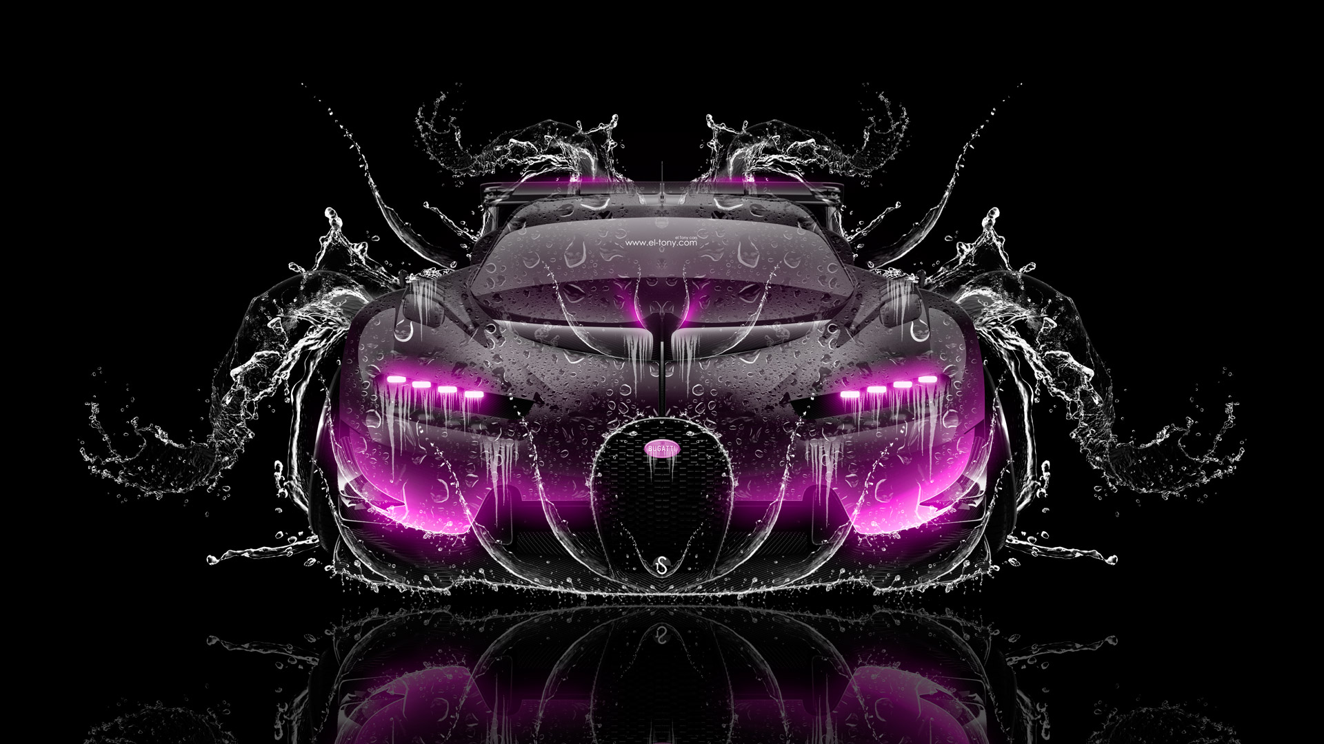 Bugatti-Vision-Gran-Turismo-FrontUp-Super-Water-Splashes-Car-2016-Pink-Black-Colors-HD-Wallpapers-design-by-Tony-Kokhan-www.el-tony.com-image Modern Pink Bugatti Veyron Katie Price Cars Trend