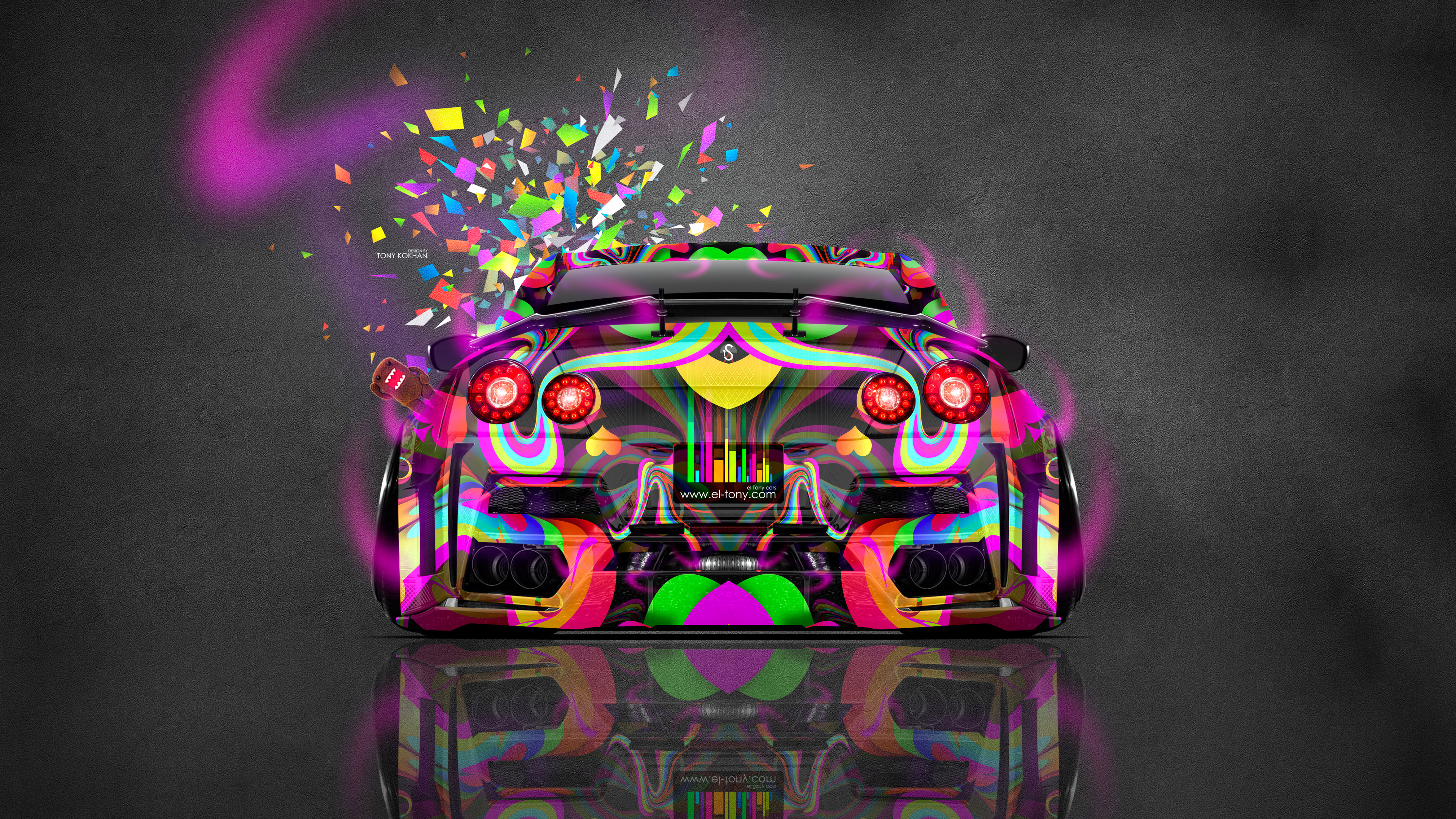 Nissan Gtr R35 Kuhl Back Jdm Domo Kun Toy Car 2016 Wallpapers 4k
