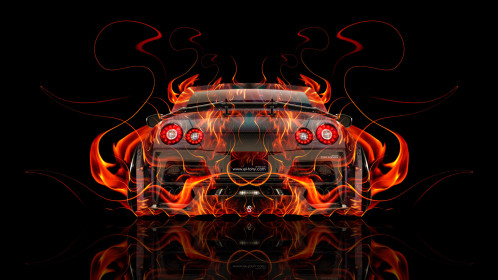 Nissan-GTR-R35-Kuhl-Tuning-Back-Super-Fire-Flame-Abstract-Car-2016-Red-Orange-Yellow-Black-Colors-HD-Wallpapers-design-by-Tony-Kokhan-www.el-tony.com-image