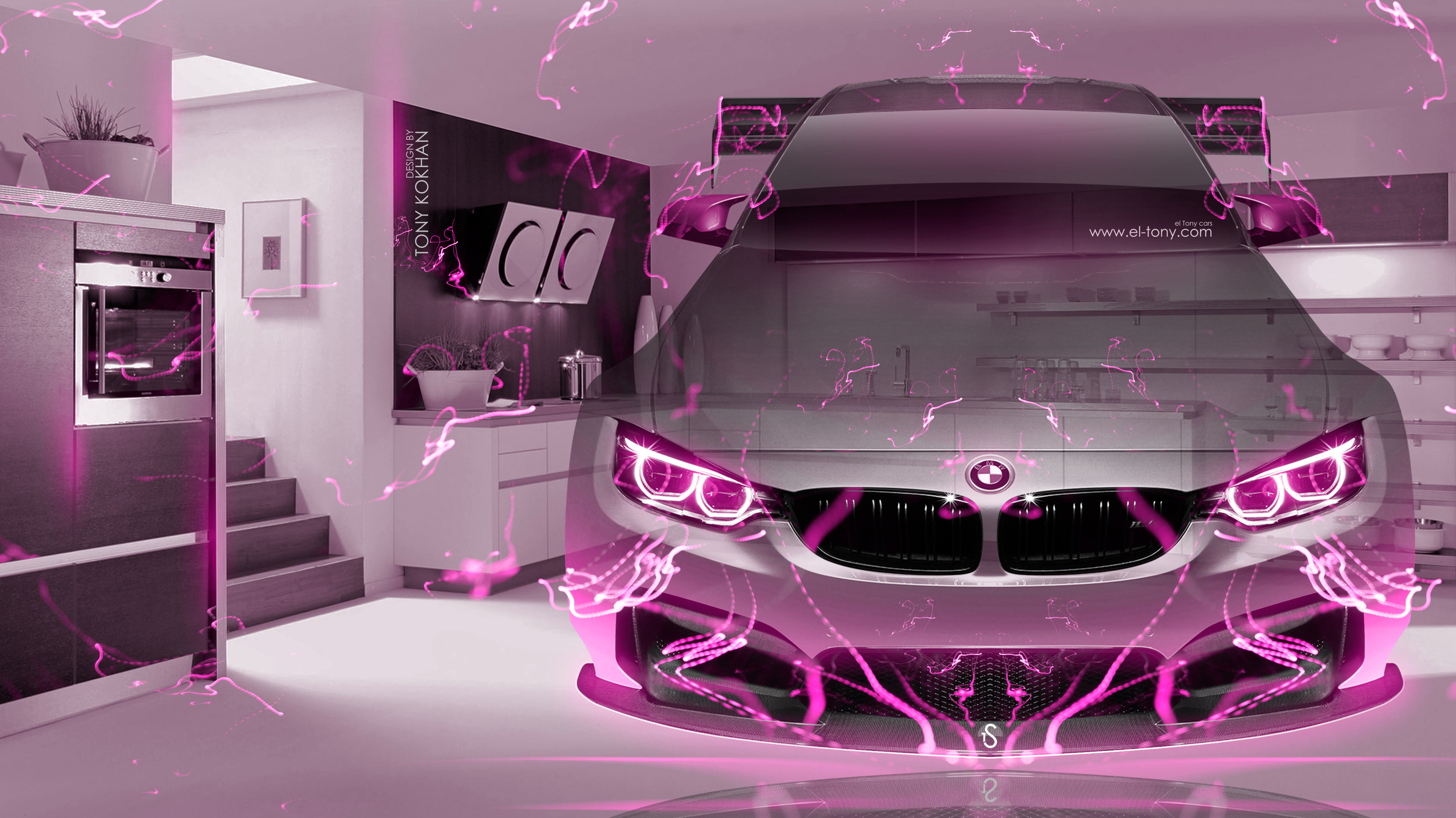 Bmw m4 fantasy crystal home fly car 2016 wallpapers 4k for Home wallpaper 2016