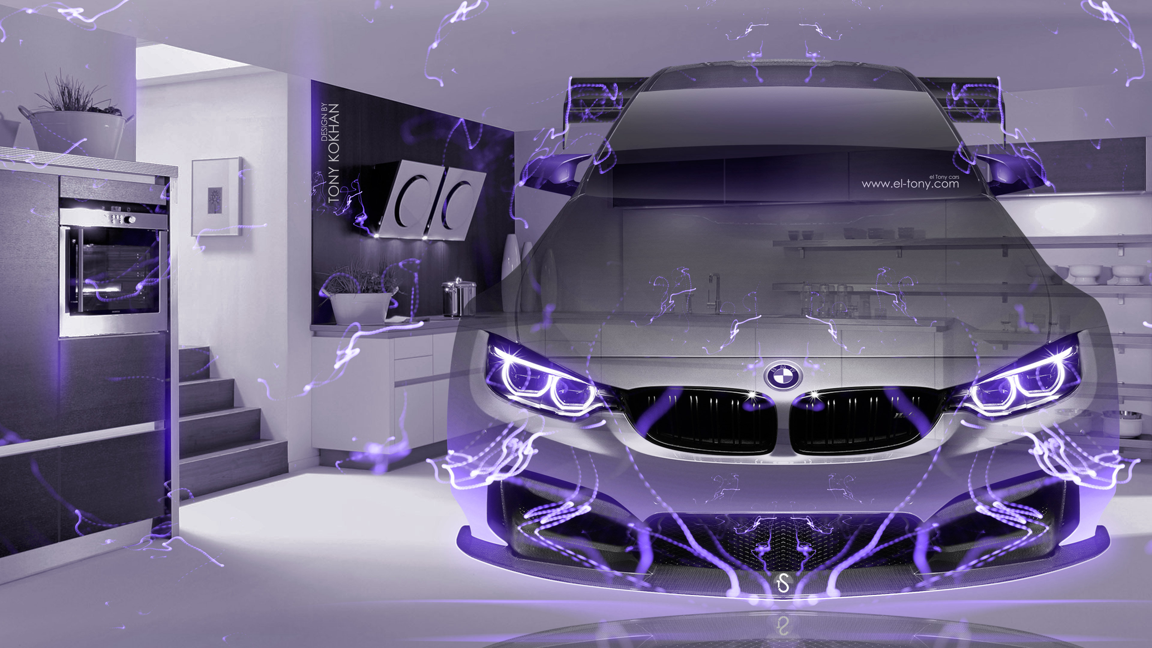 BMW-M4-Tuning-FrontUp-Fantasy-Crystal-Home-Fly-Energy-Car-2016-Violet-Neon-Effects-4K-Wallpapers-design-by-Tony-Kokhan-www.el-tony.com-image