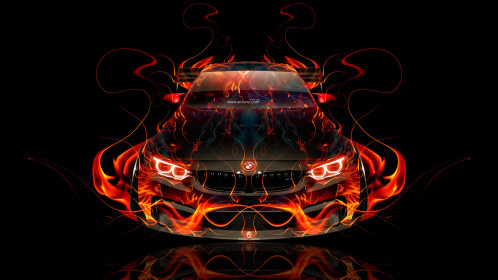 BMW-M4-Tuning-FrontUp-Super-Fire-Flame-Abstract-Car-2016-Creative-Red-Yellow-Orange-Black-Colors-HD-Wallpapers-design-by-Tony-Kokhan-www.el-tony.com-image
