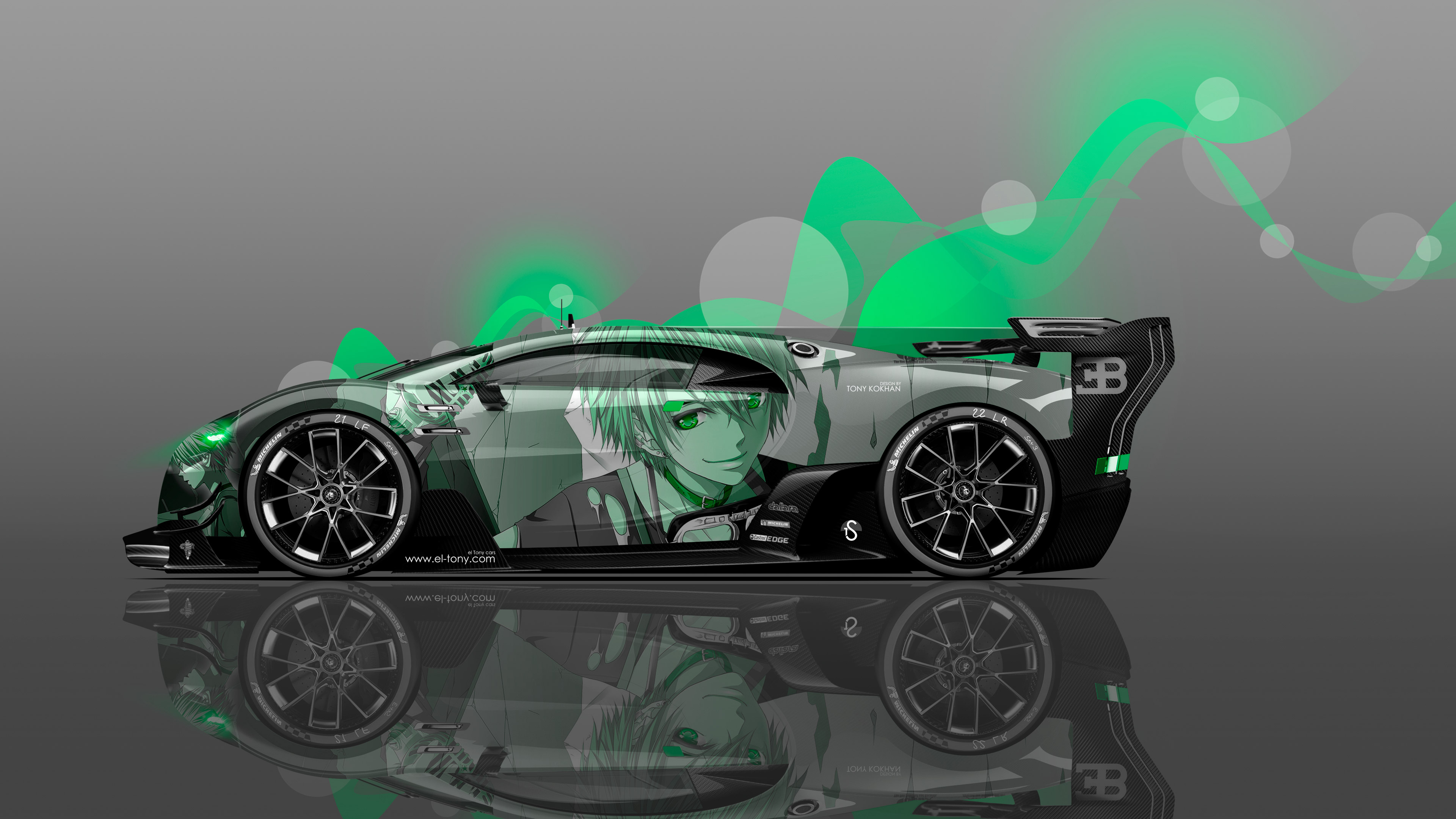 Bugatti-Vision-Gran-Turismo-Side-Anime-Boy-Aerography-Vinyl-Car-2016-Green-Neon-Effects-4K-Wallpapers-design-by-Tony-Kokhan-www.el-tony.com-image