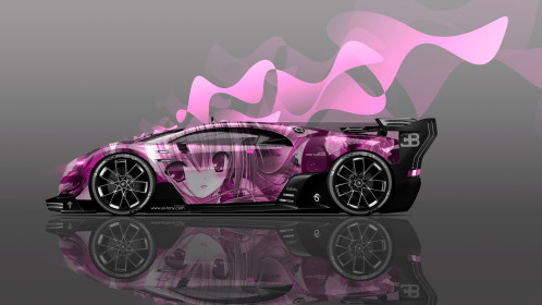 Bugatti-Vision-Gran-Turismo-Side-Anime-Girl-Aerography-Vinyl-Car-2016-Pink-Neon-Effects-4K-Wallpapers-design-by-Tony-Kokhan-www.el-tony.com-image