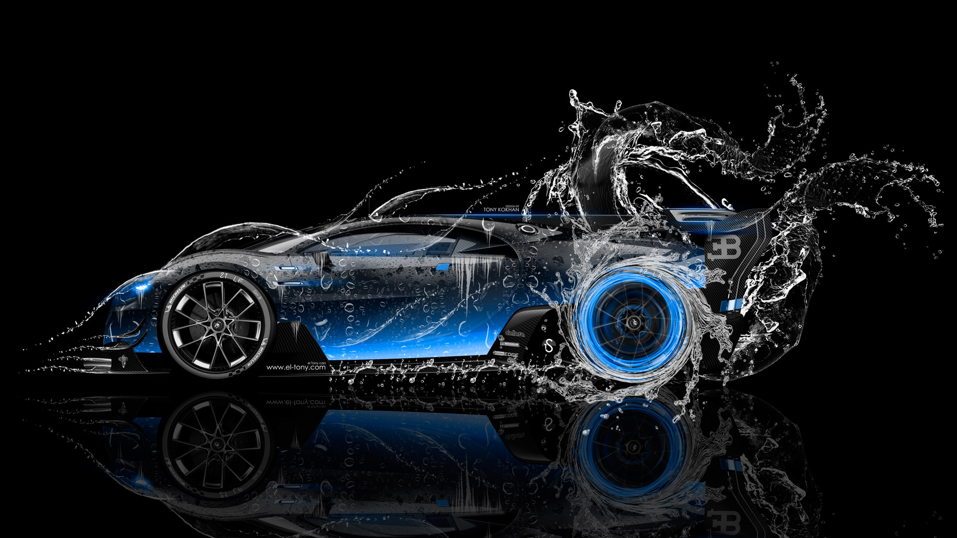 Nice ... Bugatti Vision Gran Turismo Side Super Water Car 2016