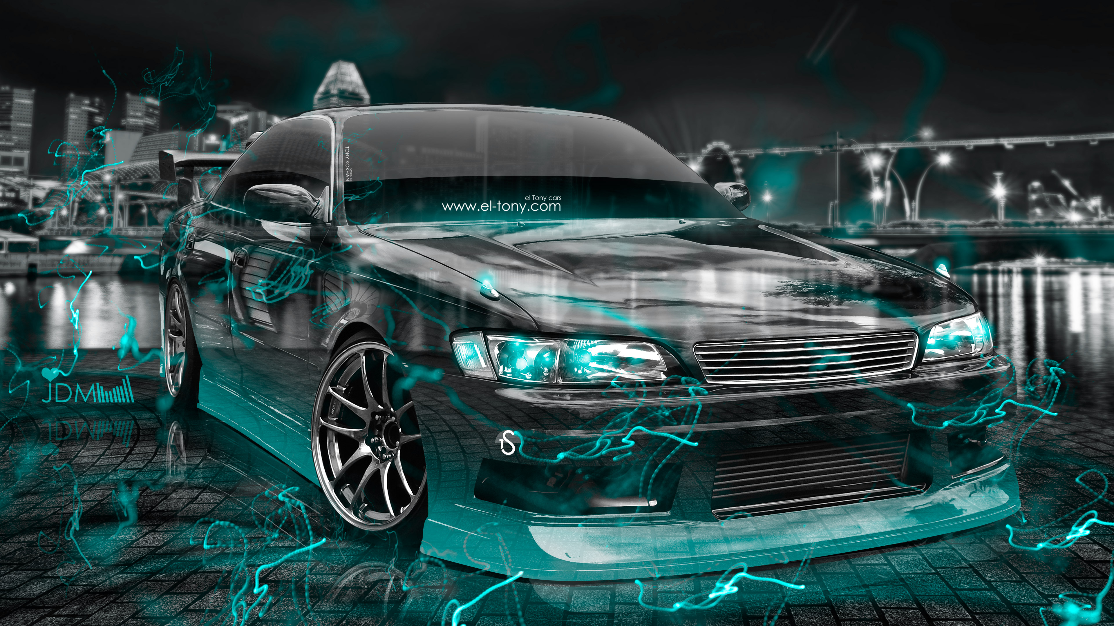 ... Toyota Mark2 JZX90 JDM Tuning 3D Crystal City  ...