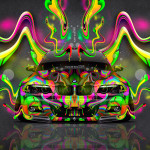 BMW M3 E46 Tuning Front Abstract Aerography Super Plastic Car 2016