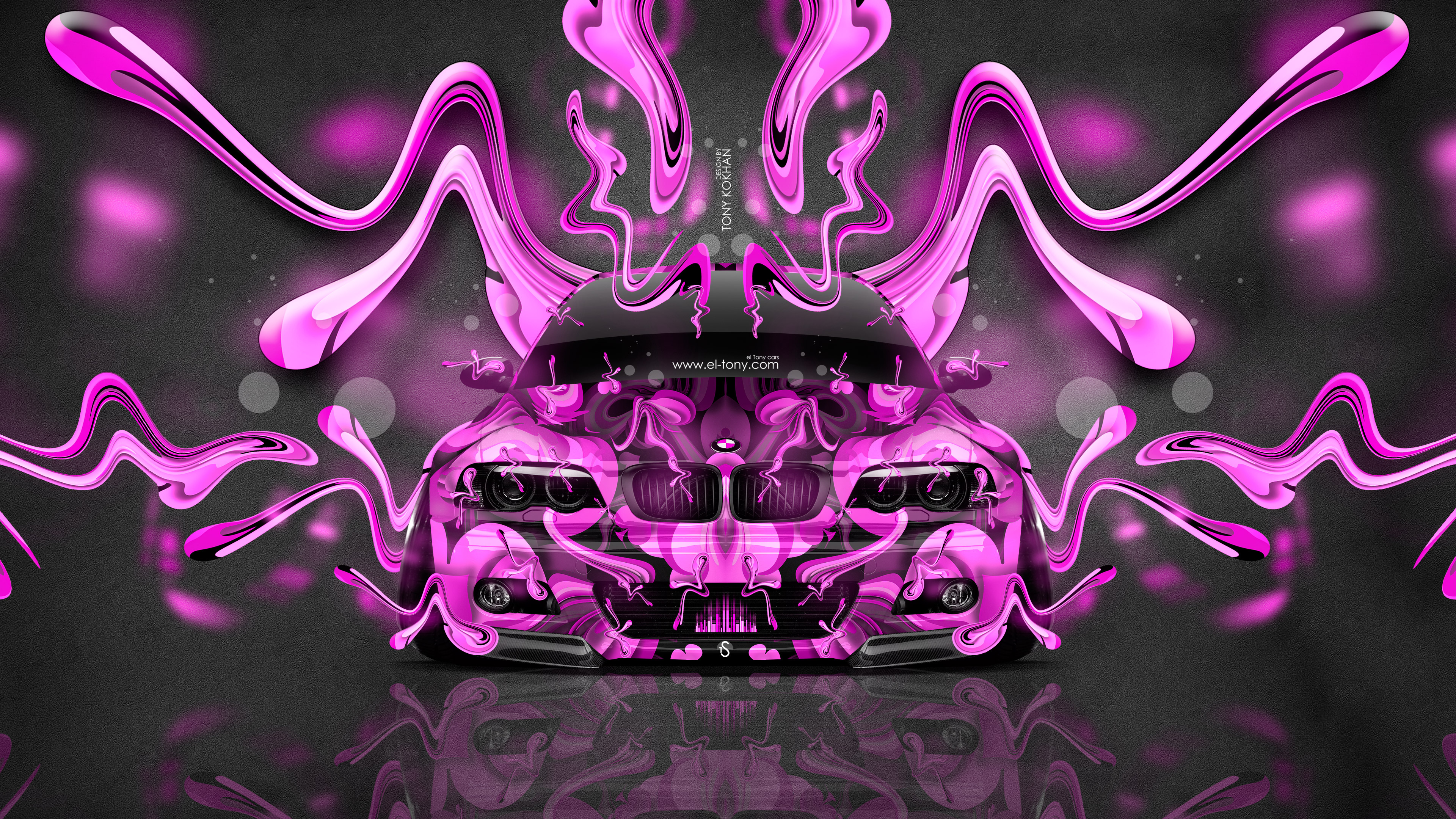 Bmw M3 E46 Tuning Front Abstract Aerography Super Plastic