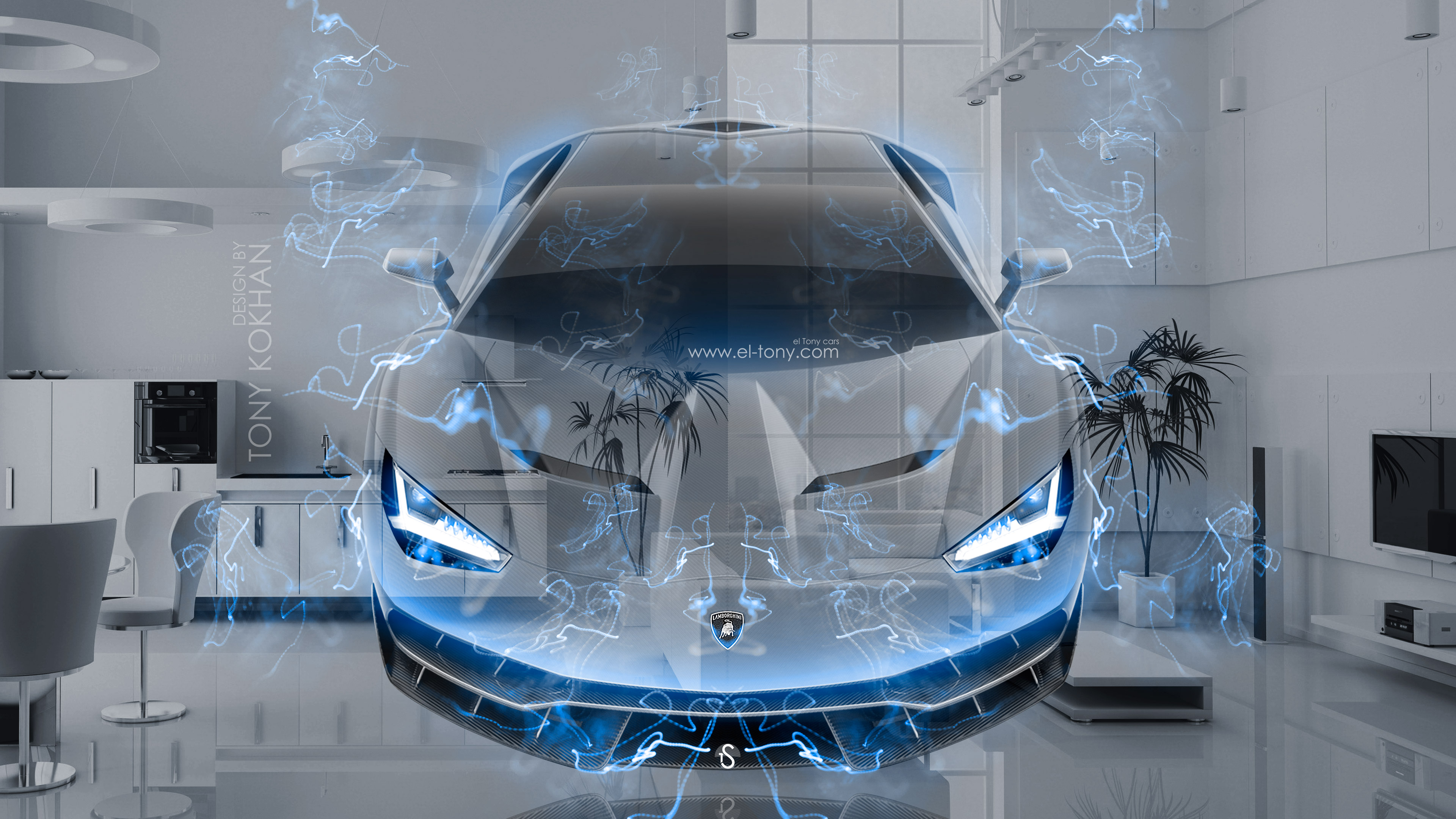 Lamborghini centenario frontup super crystal home fly for Wallpaper home 4k