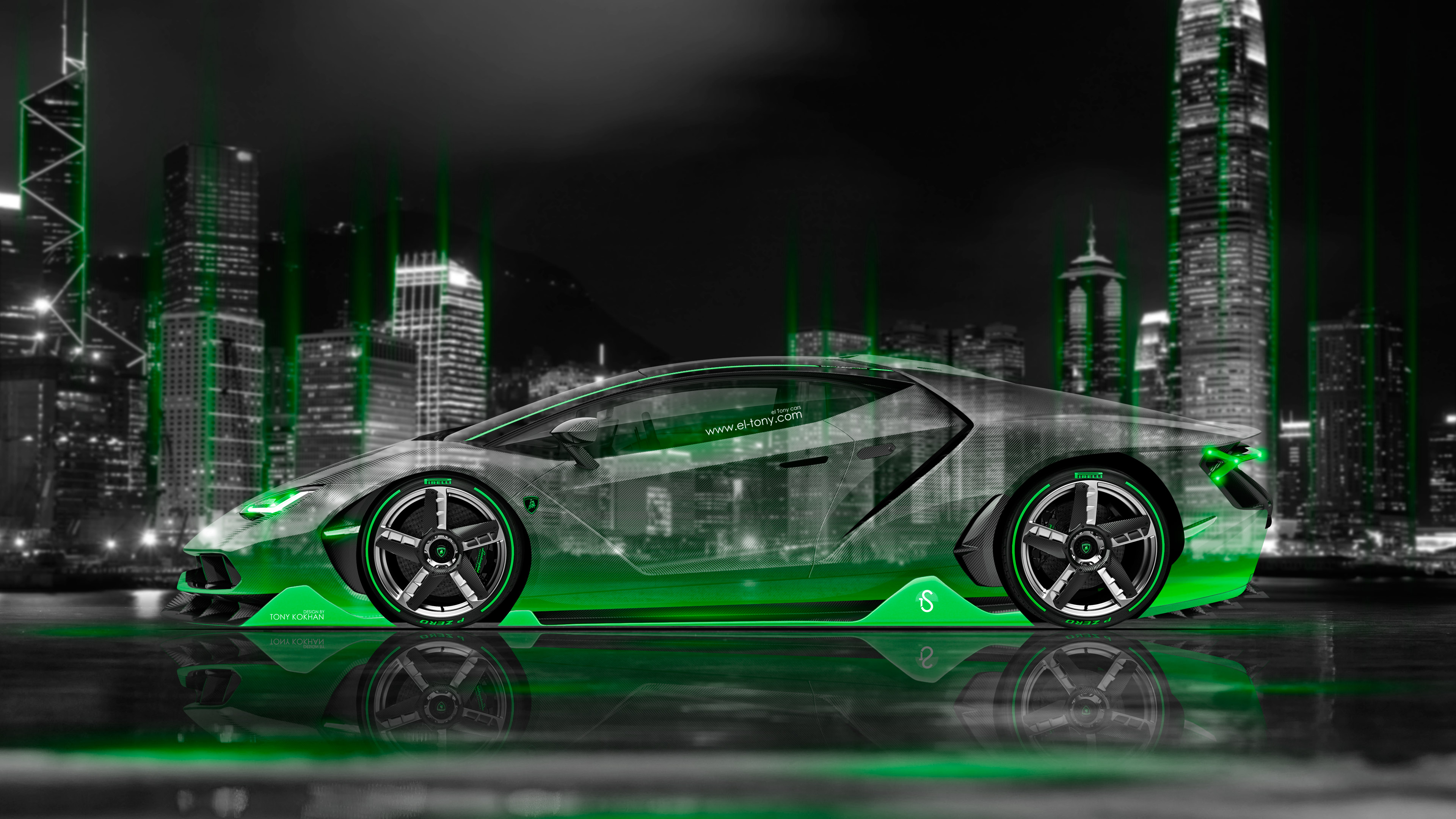 Good Wallpaper Night Lamborghini - Lamborghini-Centenario-Side-Crystal-City-Night-Car-2016-Green-Neon-Colors-4K-Wallpapers-design-by-Tony-Kokhan-www  Graphic-3847.jpg