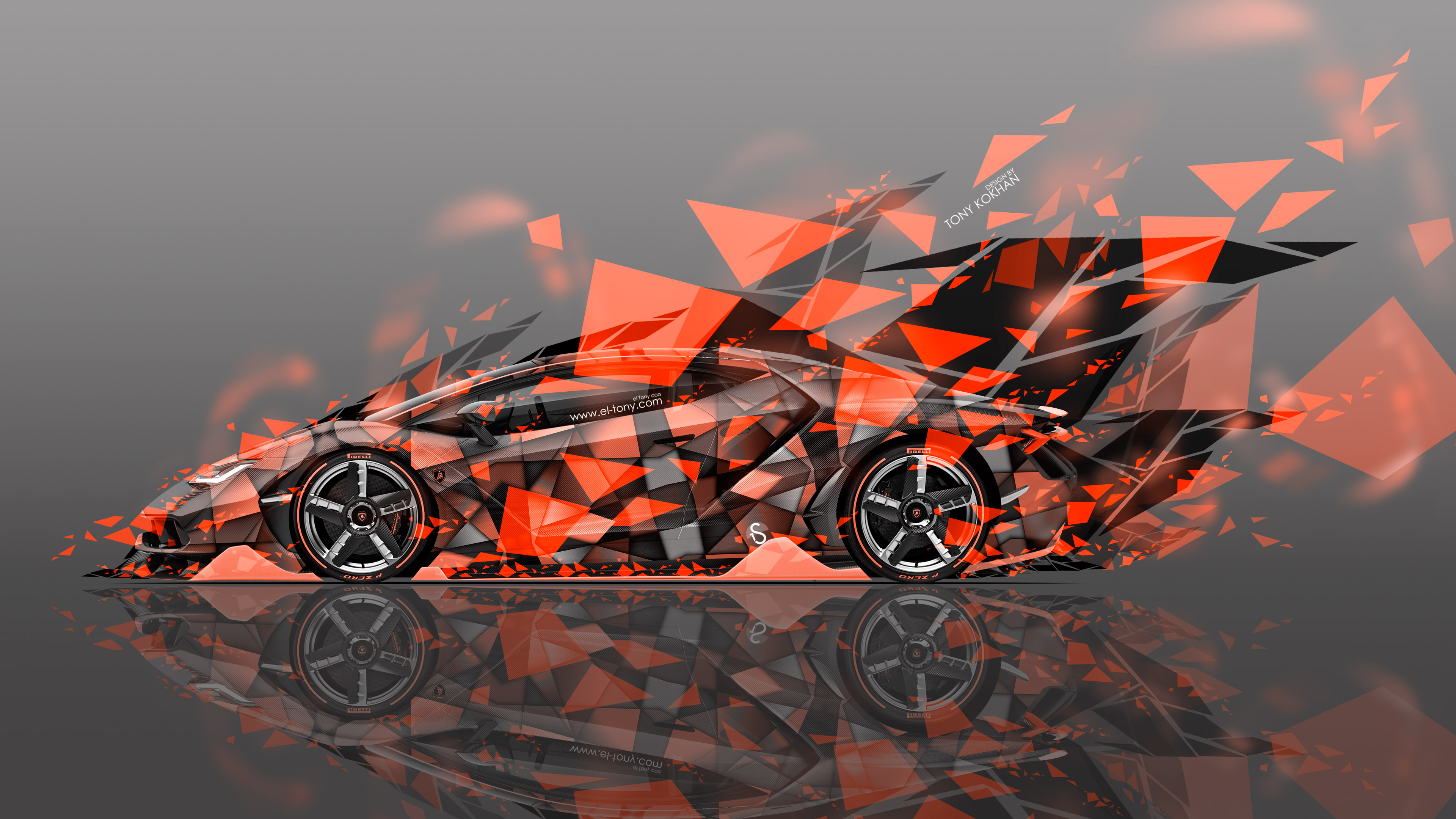 Lamborghini Centenario Side Super Abstract Aerography Car