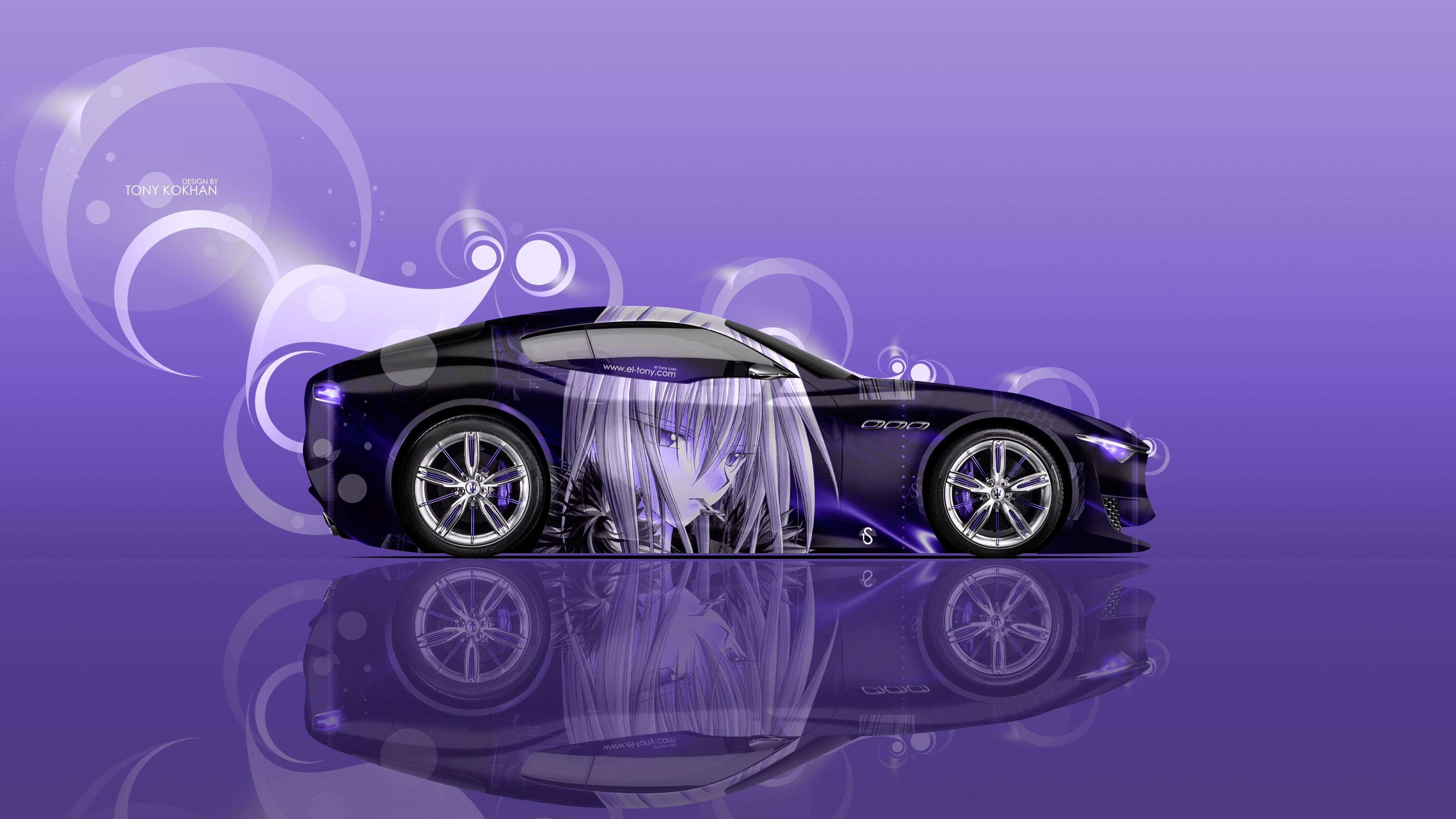 Maserati MC12 Water Car 2014 · Maserati Alfieri Side Anime Boy Aerography  Car 2016 Wallpapers 4K