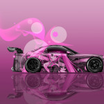 Mazda RX7 VeilSide JDM Side Anime Girl Aerography Car 2016