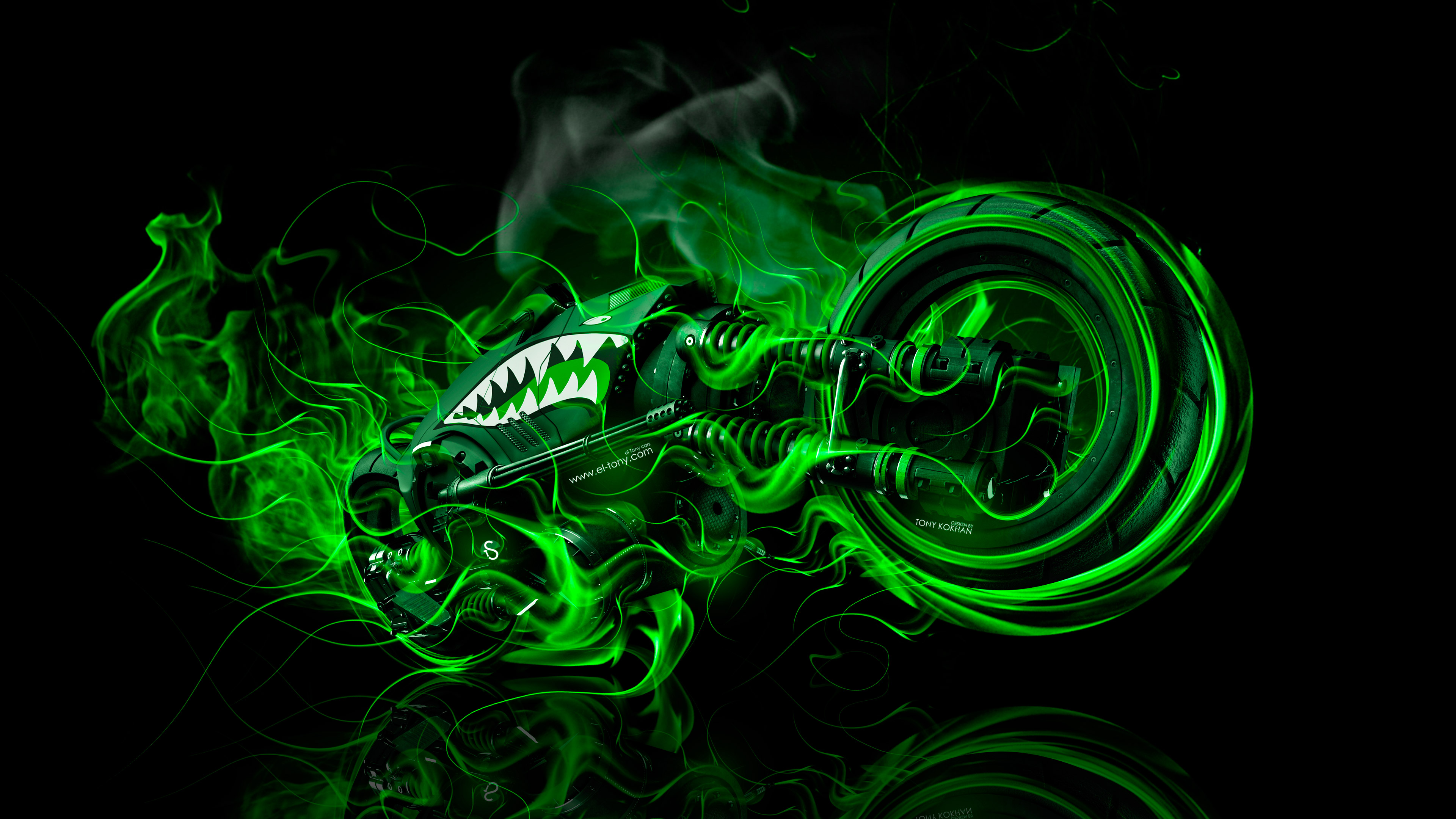 Moto Gun Super Fire Flame Abstract Bike 2016 Wallpapers 4K ...