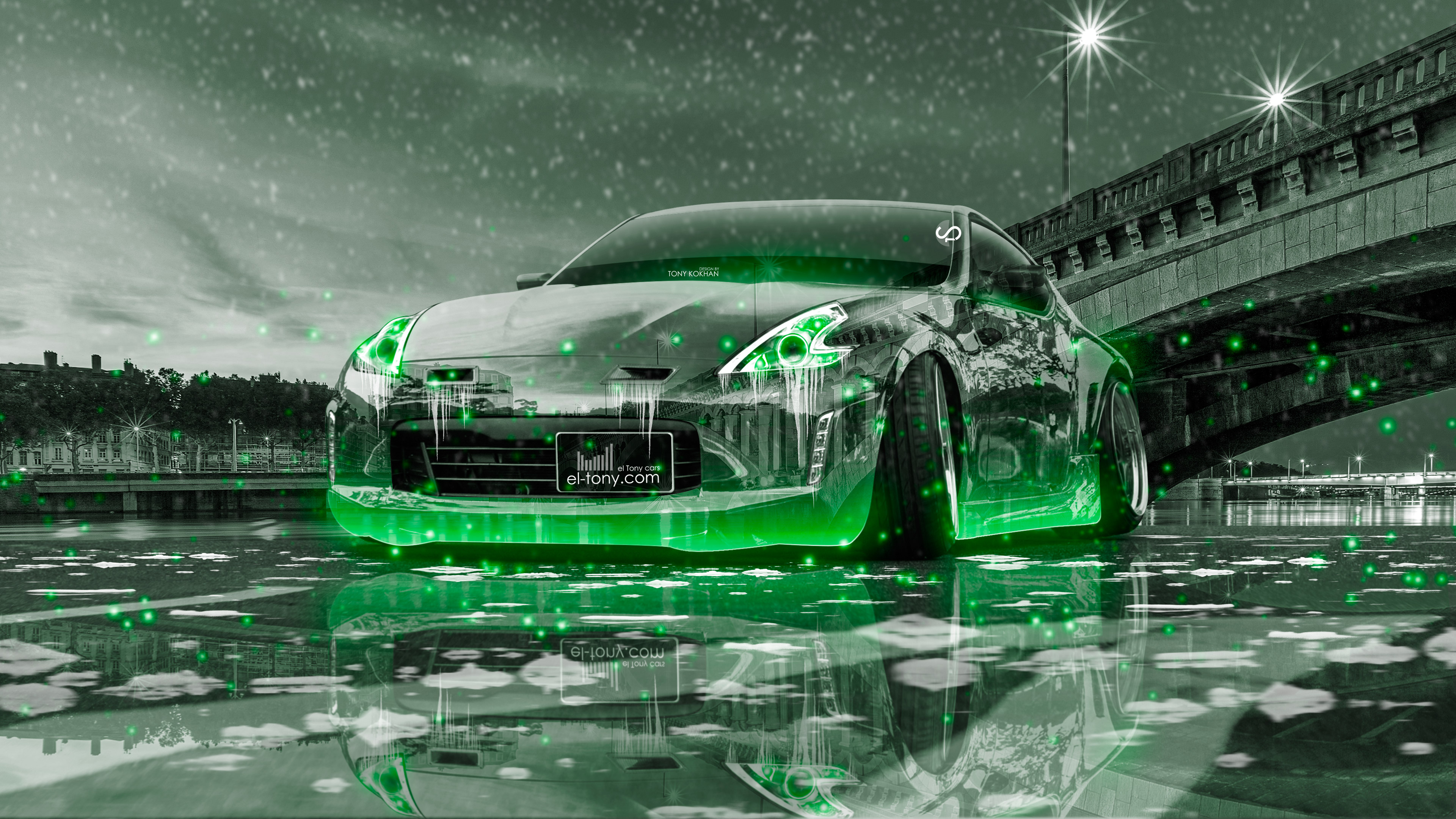 Nissan 370z Tuning Crystal City Ice Snow Car 2016