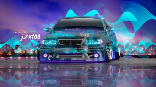 Toyota-Chaser-JZX100-JDM-Tuning-3D-Anime-Bleach-Aerography-City-Night-Car-2016-Multicolors-4K-Wallpapers-design-by-Tony-Kokhan-www.el-tony.com-image