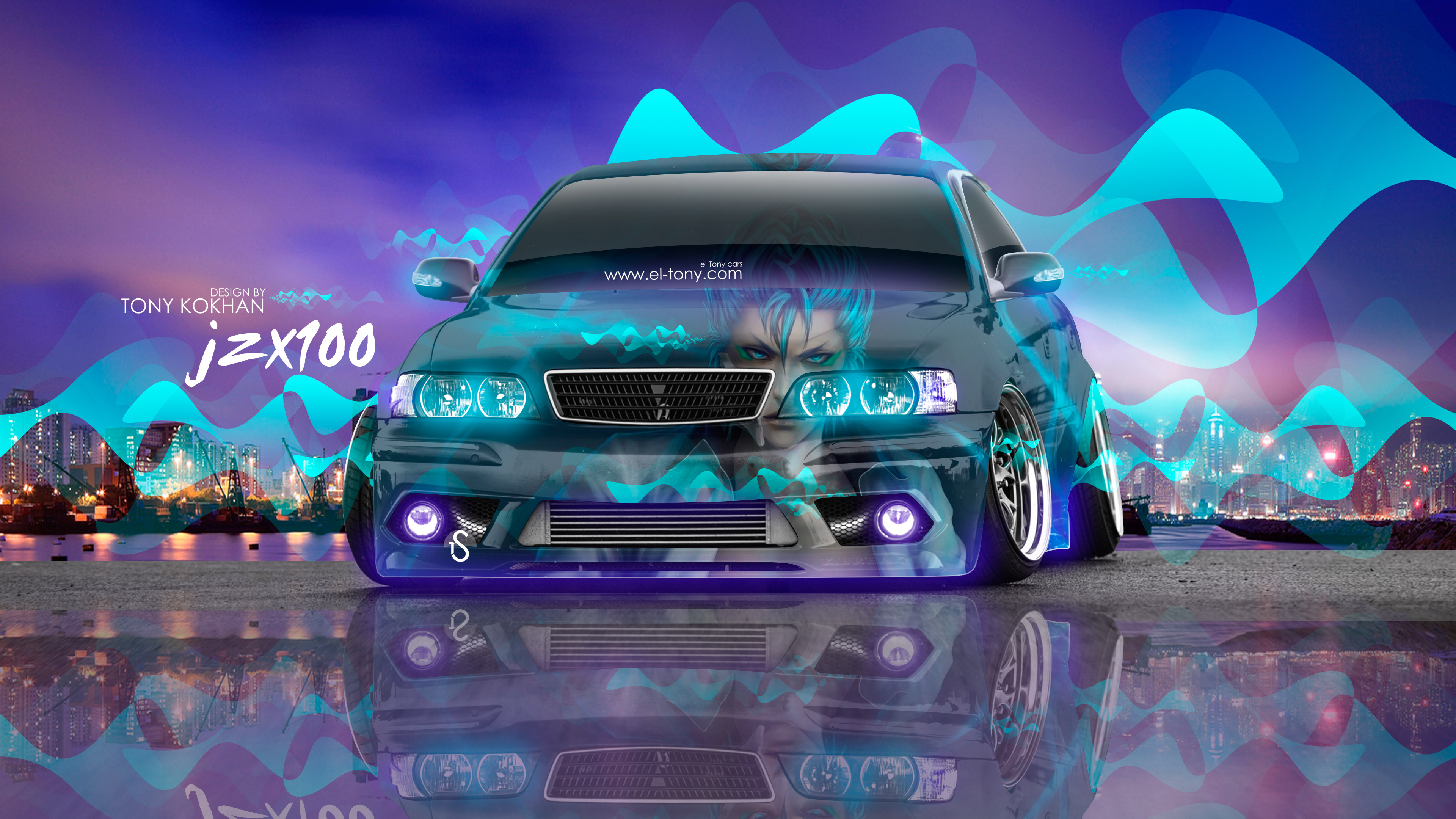 Attrayant Toyota Chaser JZX100 JDM Tuning Anime Bleach City Night Car 2016