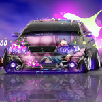 Toyota Chaser JZX100 JDM Anime Girl Aerogaphy Car 2016 Wallpapers 4K